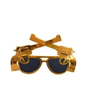 Cowboy Gold Western Double Guns Sunglasses