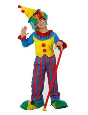 Circus Clown Boy's Carnival Costume Front View