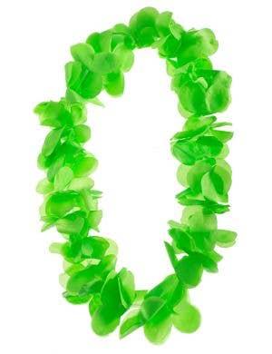 Hawaiian Neon Green Tropical Flower Lei Costume Accessory