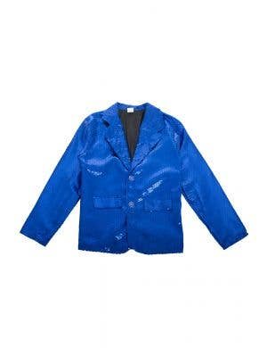 Blue Sequined Adult's Australia Day Light Up Jacket View 1