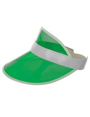80's Neon Green Party Visor Costume Hat