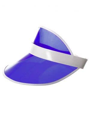 80's Neon Blue Party Sun Visor Costume Hat
