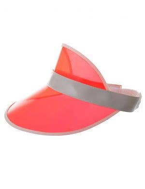 80's Red Party Sun Visor Costume Hat