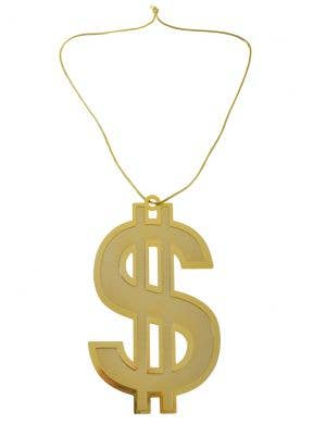 Jumbo Gold Dollar Sign Gangster Bling Necklace