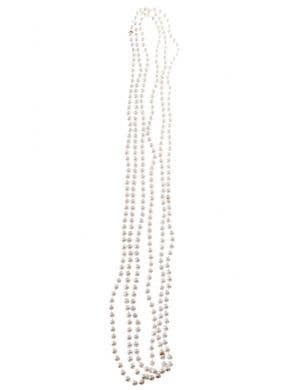 1920'S Small Beaded Pearl Flapper Necklaces