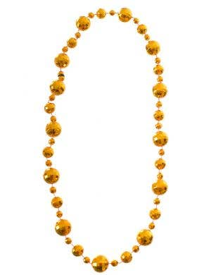 Disco Ball Gold 1970's Costume Necklace
