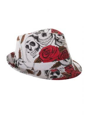 Day of the Dead Fedora Hat Novelty Dress Up Costume Accessory