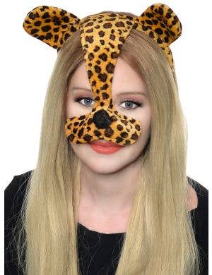 Leopard Ears and Nose Headband Costume Accessory