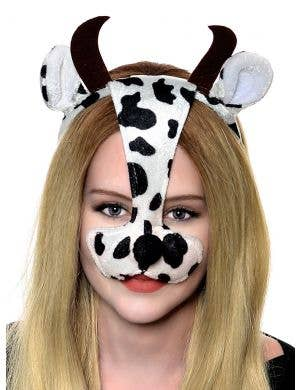 Bull Ears and Nose on Headband Costume Accessory