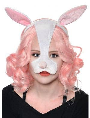 Cute Bunny Ears and Nose Costume Headband