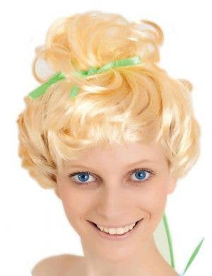 Green Fairy Women's Blonde Costume Wig Main Image