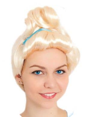 Cinderella Women's Blonde Princess Costume Wig Main Image