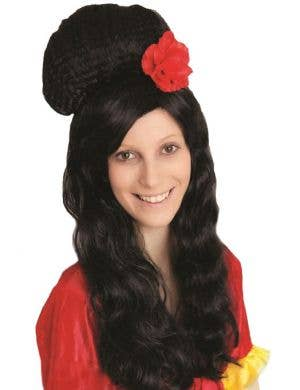 Women's Black Beehive Amy Winehouse Wig Main Image