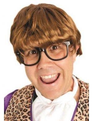Men's Austin Powers Brown Costume Wig Main Image