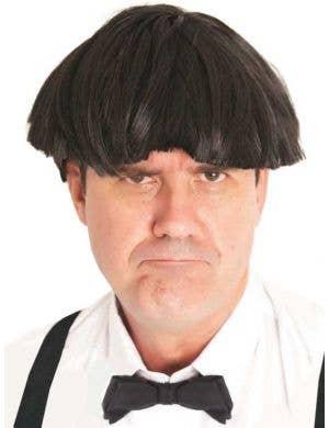 Grumpy Stooge Men's Short Black Costume Wig Main Image