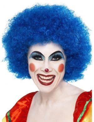 Clown Fancy Dress Women's Blue Wig