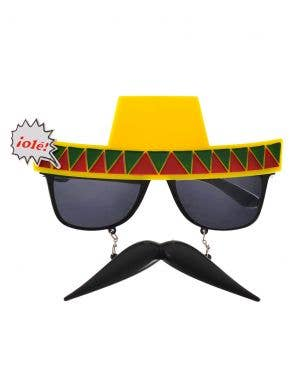 Funny Mexican Glasses With Attached Hat and Moustache