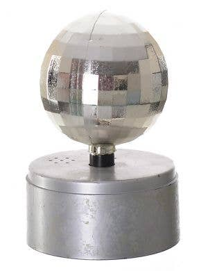 1970's Small Silver Disco Ball with Music Party Decoration