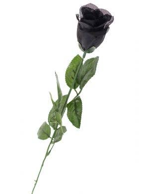 Long Stemmed Black Rose Halloween Accessory View 1