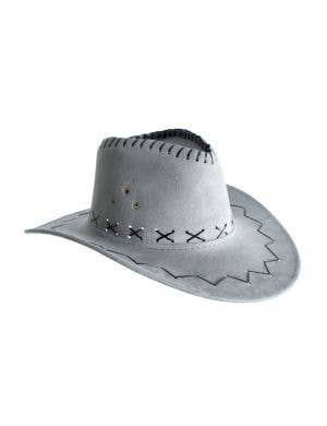 Cowboy Faux Suede Grey Unisex Costume Accessory Hat