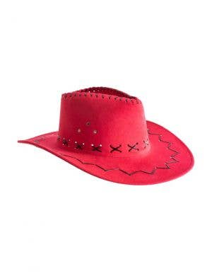 Outback Faux Suede Light Red Adult's Costume Hat Accessory