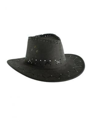 Faux Suede Kid's Black Cowboy Hat Costume Accessory