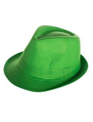Neon Gangster Fedora Costume Hat - Green