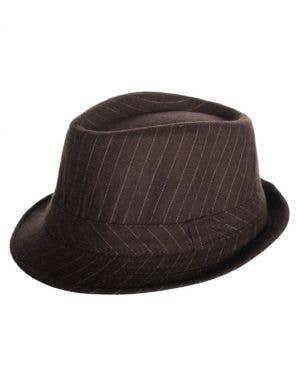 Vintage Woolblend Pinstripe Fedora - Brown