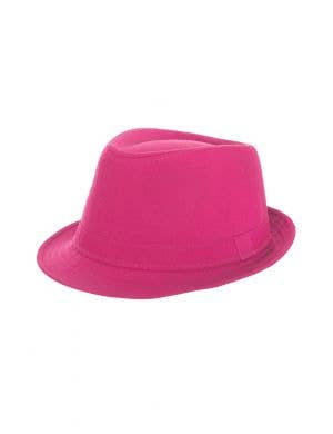 Bright Pink 1920's Gangster Costume Fedora Fancy Dress Costume