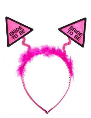 Fluffy Pink Novelty Hen's Night Head Bopper Main Image