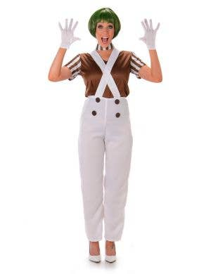 Women's Brown Oompa Loompa Costume Main Image