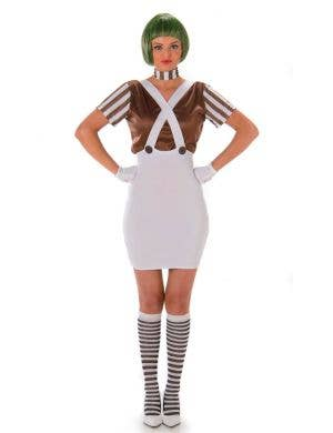 Brown Candy Maker Women's Fancy Dress Costume Main Image