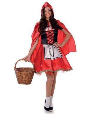 Women's Red Riding Hood Fairytale Costume Main Image