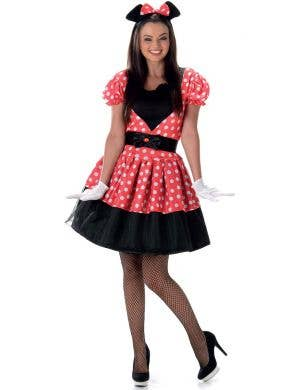 Women's Minnie Mouse Fancy Dress Costume Main Image