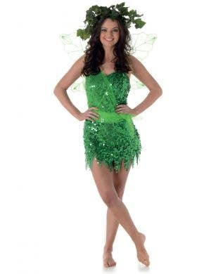 Green Fairy Women's Sexy Tinkerbell Costume Main Image