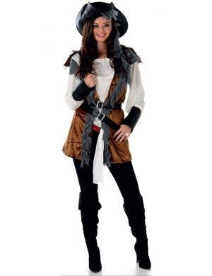 Women's Pirate Buccaneer Fancy Dress Costume Main Image
