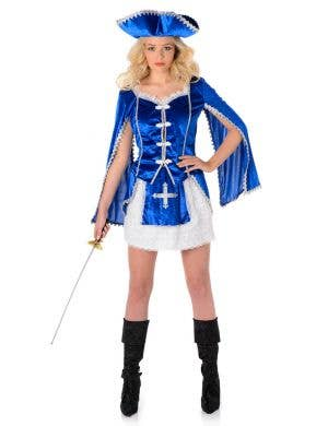 Women's Sexy  French Musketeer Costume Main Image