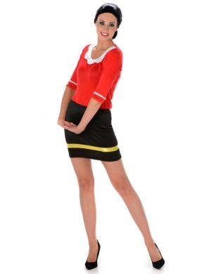 Popeye Women's Olive Oyl Fancy Dress Costume