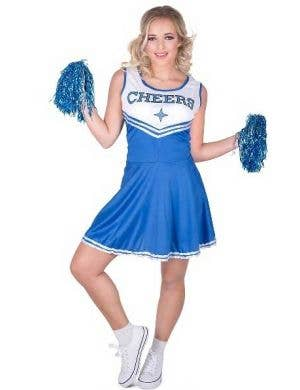 Women's Classic Blue Cheerleader Costume