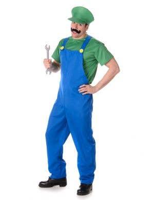 Green Plumber Guy Luigi Men's Costume Main Image
