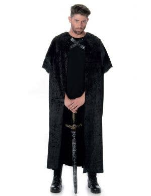 Jon Snow Game of Thrones Black Medieval Cape Main Image