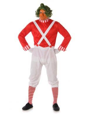 Men's Oompa Loompa Fancy Dress Costume Main Image