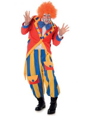 Men's Colourful Circus Clown Costume Main Image
