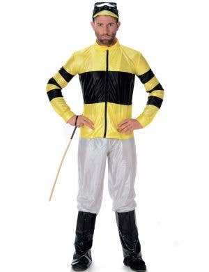 Men's Yellow Jockey Fancy Dress Costume Main Image