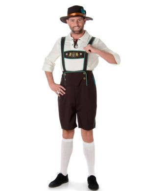Men's Oktoberfest Lederhosen Fancy Dress Costume Main Image