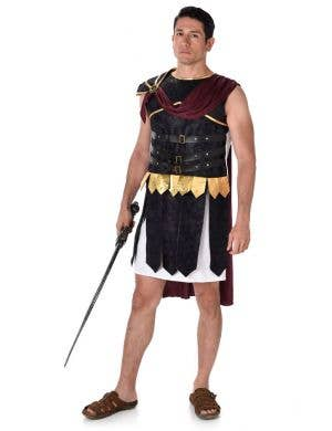 Men's Roman Gladiator Fancy Dress Costume Main Image