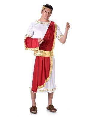 Men's Roman Emperor Toga Costume Main Image