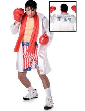 Men's Champion Boxer Rocky Balboa Sporting Fancy Dress Costume Main
