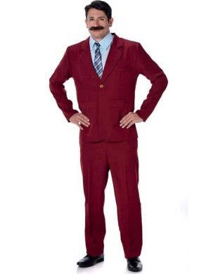 Men's Anchorman Ron Burgundy 1970's Costume Main Image