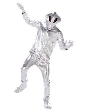 Men's Silver Alien Fancy Dress Costume